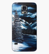 Starry Mountain Snowscape Case/Skin for Samsung Galaxy