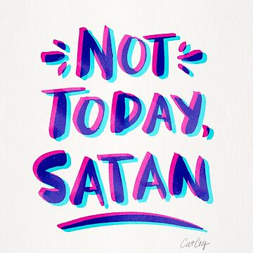 Not Today, Satan – Cyan & Magenta Palette by catcoq