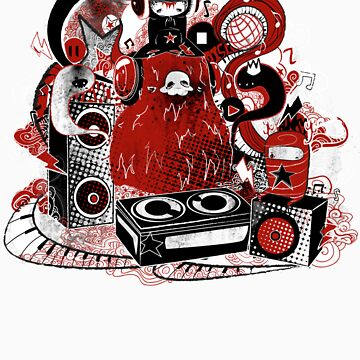 Music Monster by bahgoesthesheep