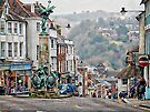 View From The War Memorial Down To Harveys Brewery Lewes by Dorothy Berry-Lound