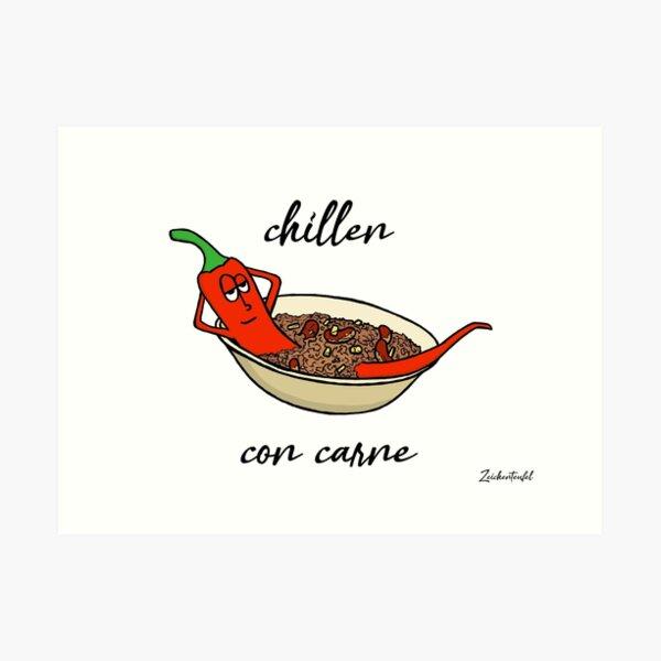 Zeichenteufel - chillen con carne Kunstdruck
