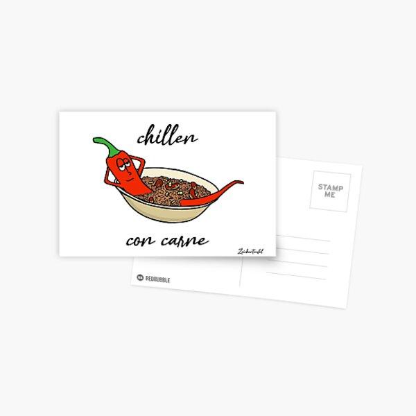 Zeichenteufel - chillen con carne Postkarte