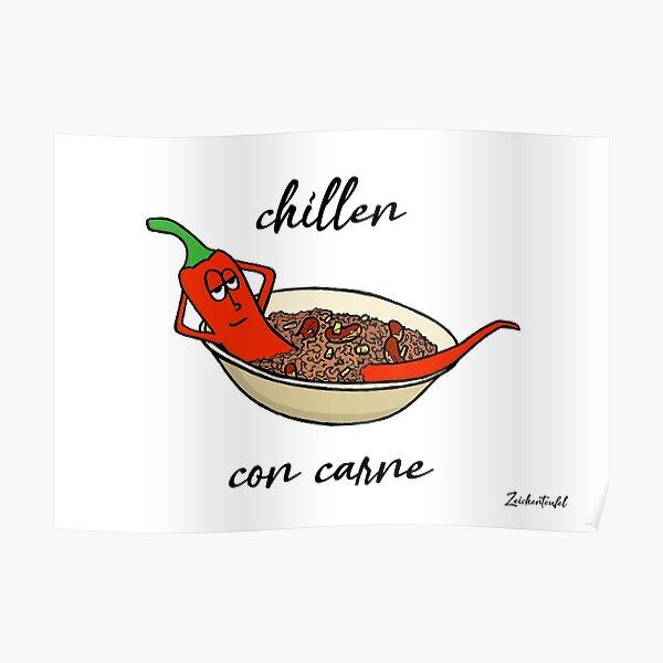 Zeichenteufel - chillen con carne Poster