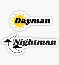 Dayman + Nightman Sticker