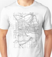 Niagara Falls map poster print wall art, Ontario gift printable, Home and Nursery, Modern map decor for office, Map Art, Map Gifts Unisex T-Shirt
