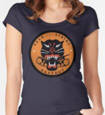 Seek Strike Destroy Tank Destroyer Emblem Women's Fitted Scoop T-Shirt