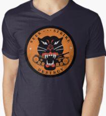 Cherche Strike Détruire Tank Destroyer Emblème T-shirt col V homme
