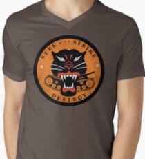 Seek Strike Destroy Tank Destroyer Emblem Men's V-Neck T-Shirt