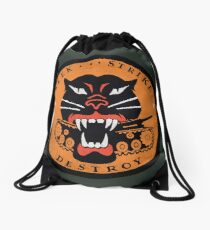 Seek Strike Destroy Tank Destroyer Emblem Drawstring Bag