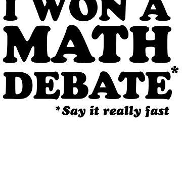 I won a math debate by artack