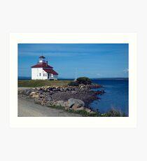 Gilberts Cove lighthouse Art Print