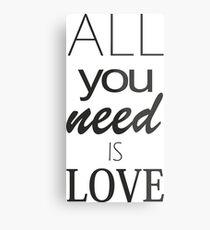 is love Metal Print