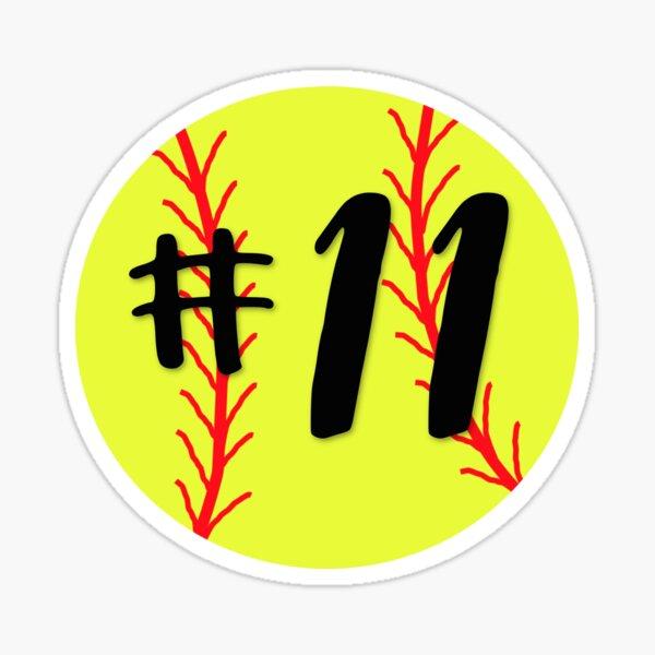 Softball #11 Sticker