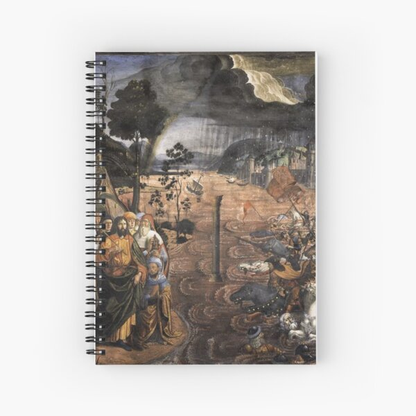 The Crossing of the Red Sea (Sistine Chapel) Spiral Notebook