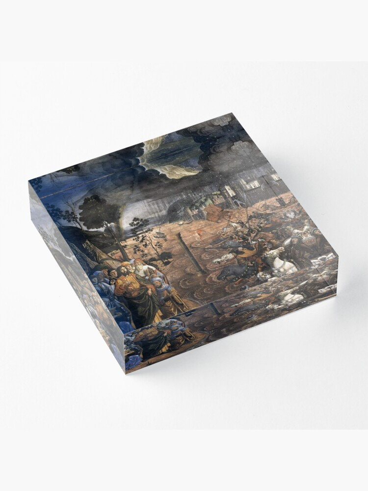 Alternate view of The Crossing of the Red Sea (Sistine Chapel) Acrylic Block
