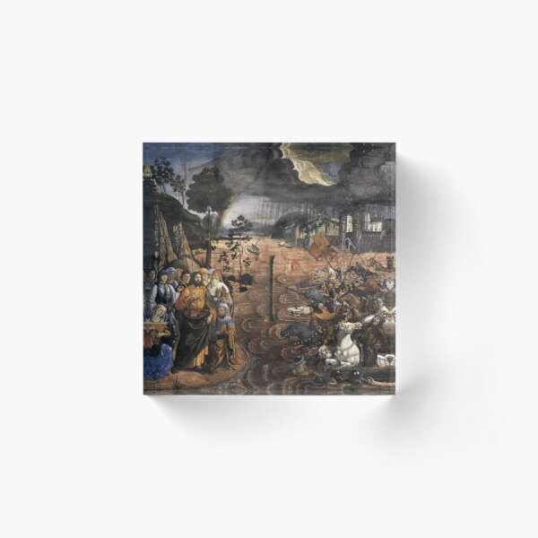 The Crossing of the Red Sea (Sistine Chapel) Acrylic Block