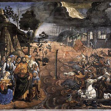 The Crossing of the Red Sea (Sistine Chapel) by znamenski