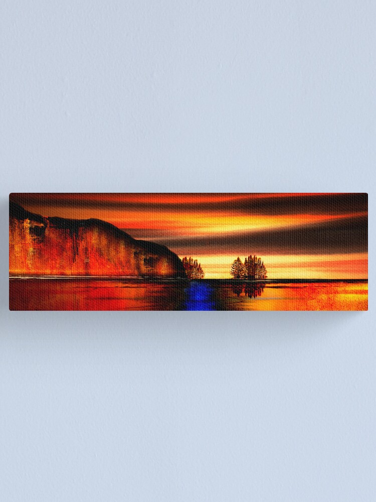 Alternate view of Mountains and Rivers for Zen Master Dogen Canvas Print
