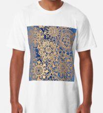 Blau und Goldmandala-Muster Longshirt