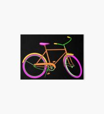 Neon Bike with Pink Art Board Print