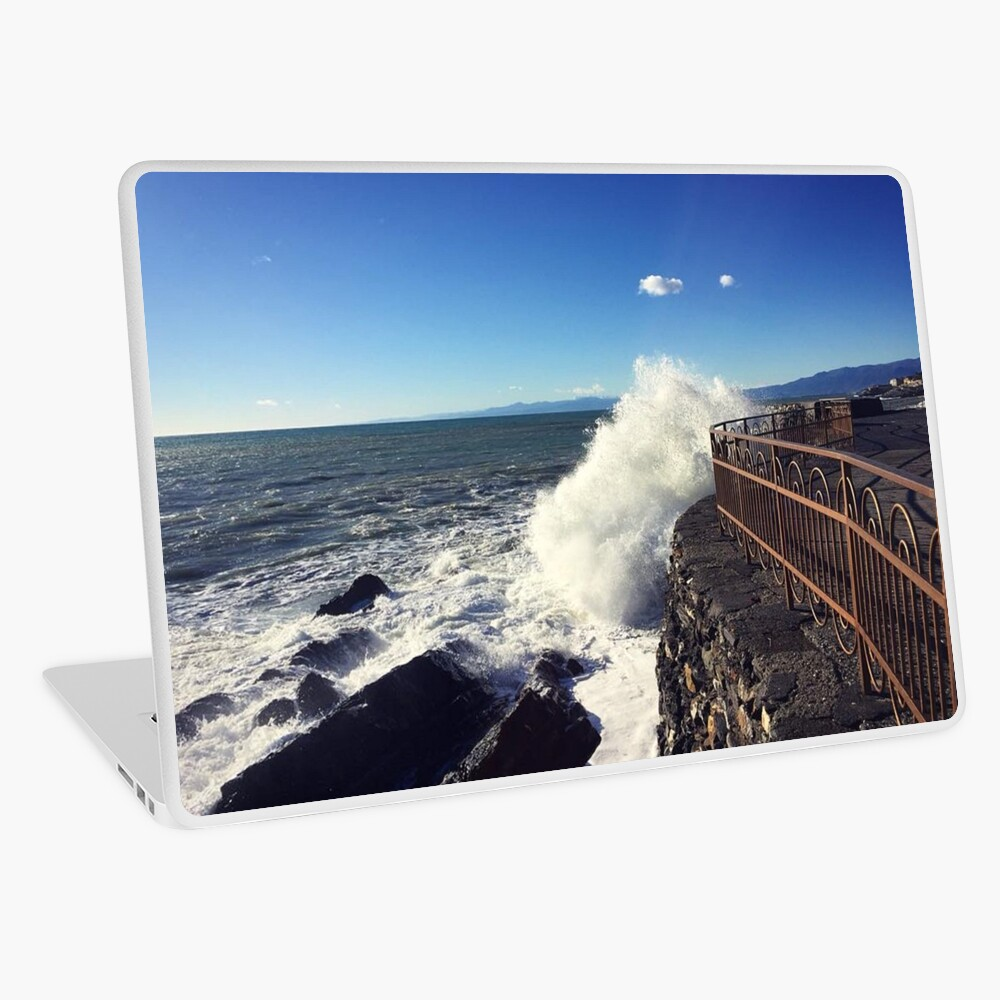 Foto onde mare Genoa - Photo waves sea Genoa Laptop Skin