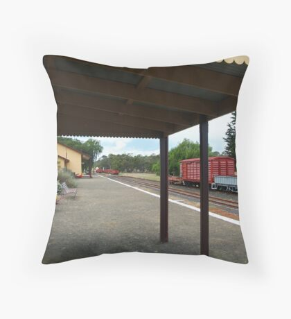Historic Drysdale Railway Station,Bellarine Peninsula Throw Pillow