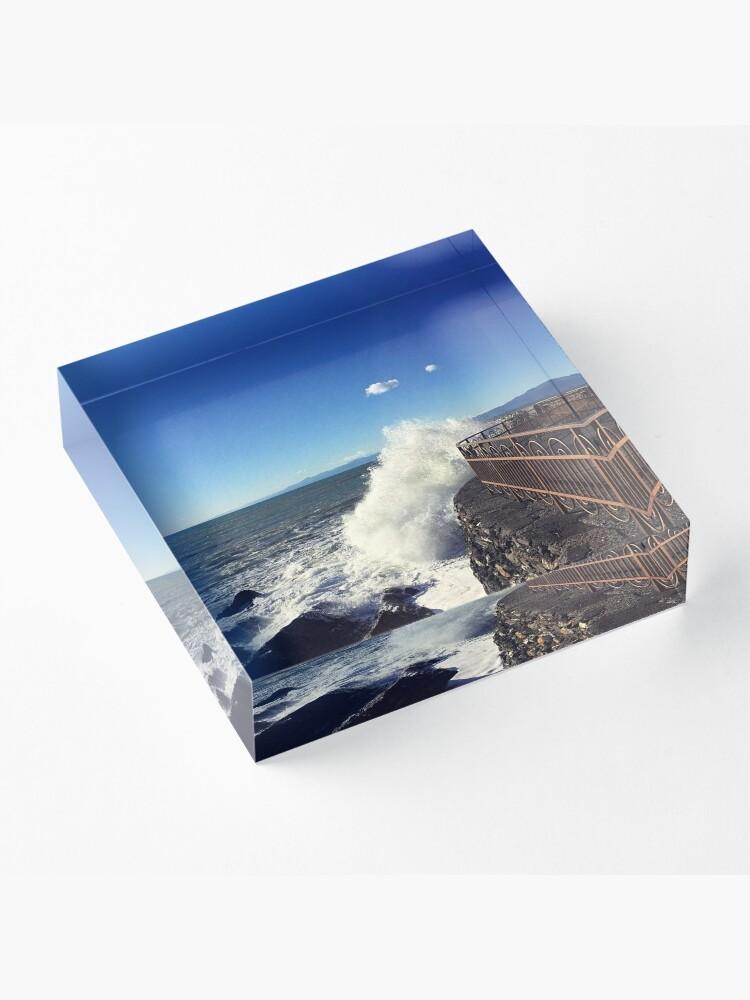 Alternate view of Foto onde mare Genoa - Photo waves sea Genoa Acrylic Block