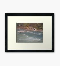 Above Middle Falls Framed Print