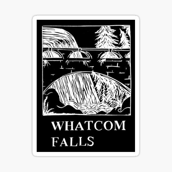 Whatcom Falls Park Bellingham Washington Sticker