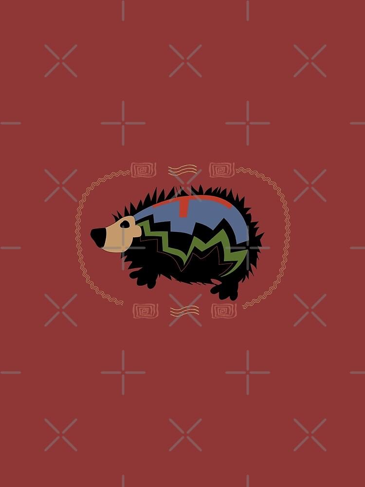 Aztec Hedgehog by CreativeContour