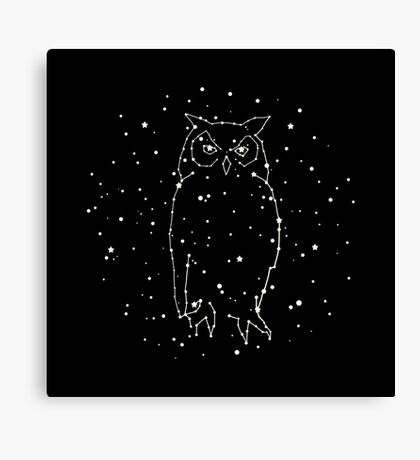 Owl Constellation  Canvas Print