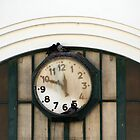 Vintage Station Clock with Birds by Anna Lemos