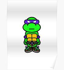 Purple Renaissance Turtle Poster