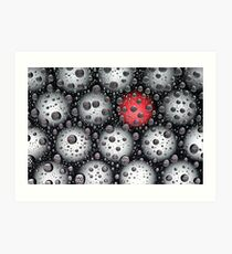 With a red dot Art Print