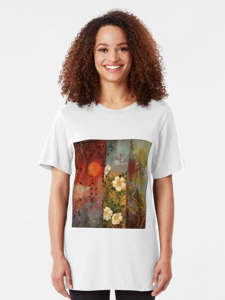 Alternate view of Whisper Forest Moon II Slim Fit T-Shirt