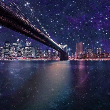 Spacey Manhattan Skyline by FrankieCat