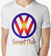 sunset dub Men's V-Neck T-Shirt