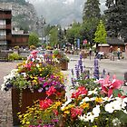 pretty Courmayeur and view to Mont Blanc by BronReid