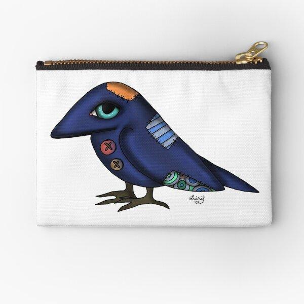 Crow puppet - corvo pupazzo Zipper Pouch