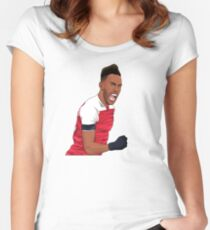 Arsenal striker Women's Fitted Scoop T-Shirt