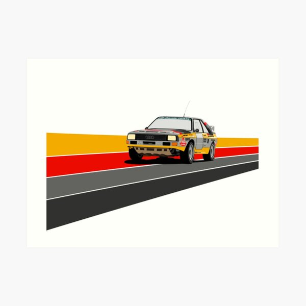 Peugeot RCZ Caricature Car Art Print