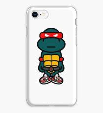 Red Renaissance Turtle iPhone Case/Skin