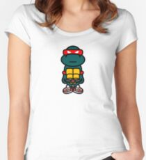 Red Renaissance Turtle Women's Fitted Scoop T-Shirt