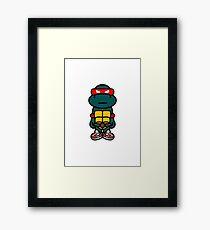 Red Renaissance Turtle Framed Print