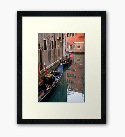 Quiet Water in Venice Framed Print