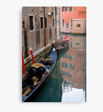 Quiet Water in Venice Metal Print