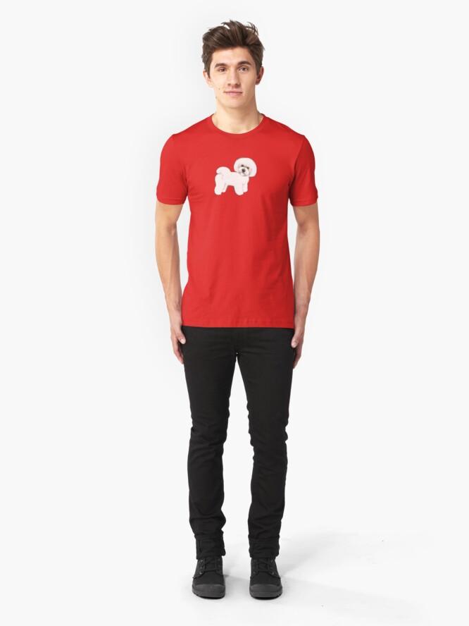 Alternate view of Bichon Frise, joyful friend Slim Fit T-Shirt