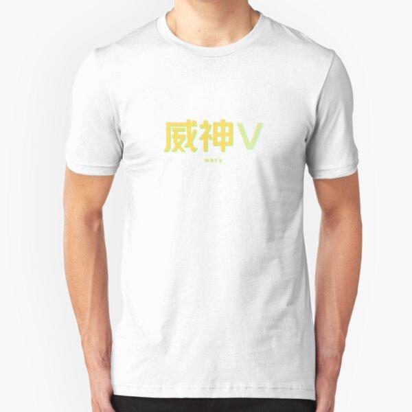 nct wayv logo neon  Slim Fit T-Shirt