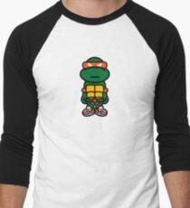 Orange Renaissance Turtle Men's Baseball ¾ T-Shirt
