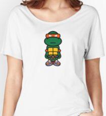 Orange Renaissance Turtle Women's Relaxed Fit T-Shirt